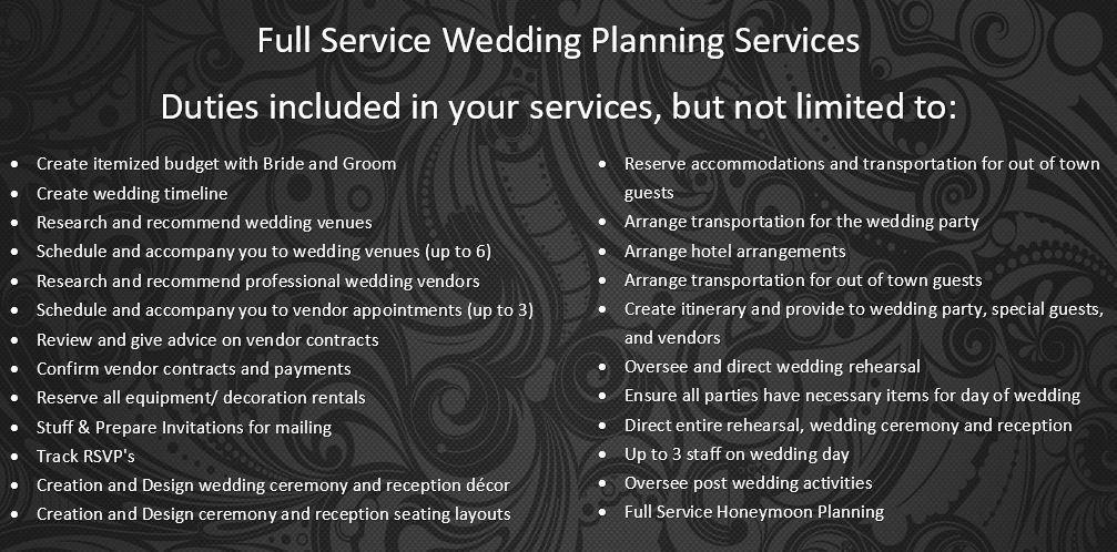 Atlanta Wedding Planners Full Service Wedding Planning