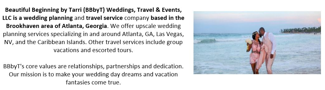 Wedding Planning and Travel Services Based in Atlanta, GA